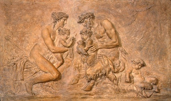Faun Family by Claude Michel, 1785